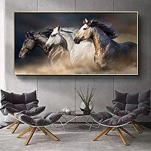 Wall art decoration painting Three Running Horses