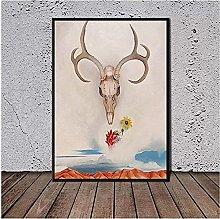 Wall Art Georgia O Keeffe Skull Poster Poster