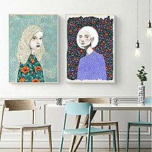 Wall Art Illustration Posters Woman Canvas