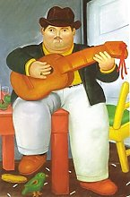 Wall Art Man with a Guitar by Fernando Botero