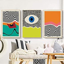 Wall Art Modern Colorful Eye Poster Geometric