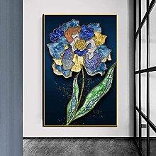 wall art Nordic Modern Flower Floral Print on