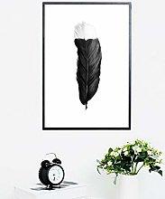 Wall Art Print Brush Strokes Black White Poster