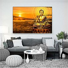 Wall Art Print Buddha Posters Canvas Abstract Oil