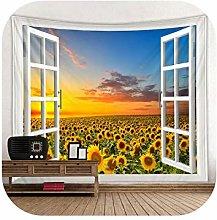 Wall Art Tapestry| Falling Sunflower Print Large