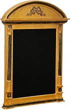 WALL BOARD WITH WOODEN FRAME AND  ANTIQUED GOLD LEAF AND BLACK FINISHING  MADE IN ITALY