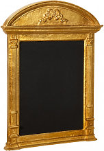 WALL BOARD WITH WOODEN FRAME AND ANTIQUED GOLD LEAF FINISHING  MADE IN ITALY