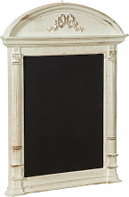 WALL BOARD WITH WOODEN FRAME AND ANTIQUED WHITE