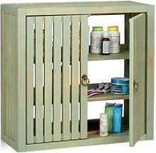 Wall Cabinet Vintage, Bamboo, 2 Doors, Magnet