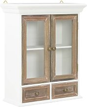 Wall Cabinet White 49x22x59 cm Solid Wood - White