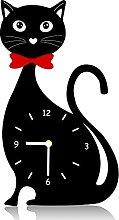 Wall Cat Clock Decor Kitchen Cat Clock Decorative