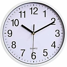 Wall clock, 10 Inch Large Number Round Easy to