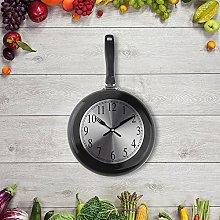 Wall Clock, 10 inch Metal Frying Pan Kitchen Wall