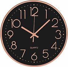 Wall Clock 12 Inch Modern Non-Ticking Silent