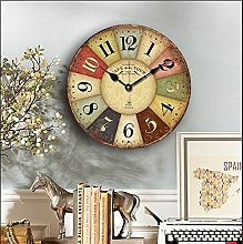 Wall Clock, 16-inch Eruner Rustic French Country