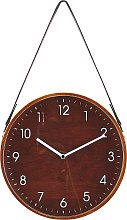 Wall Clock ø 26 cm Brown RENENS