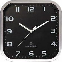 Wall Clock 27 x 27 cm Black and Grey - Black -