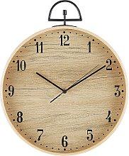 Wall Clock ø 40 cm Light Wood OPFIKON