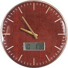 Wall Clock ø 43 cm Brown BRUGG