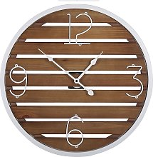 Wall Clock ø 50 cm Dark Wood ARRIAGA