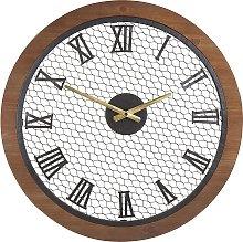 Wall Clock ø 54 cm Dark Wood FUBEROS