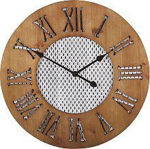 Wall Clock ø 60 cm Dark Wood CUILCO