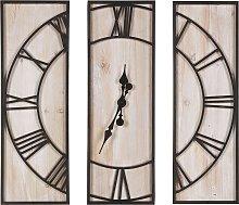 Wall Clock 75 x 75 cm Light Wood COATLAN