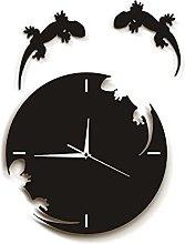 Wall Clock Abstract Wall Art Geckos Escape From