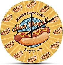 Wall Clock Alwayws Fresh Hot American Hot Dogs