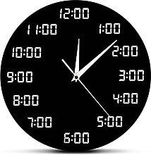 Wall Clock Analogous Digital Wall Clock Humorously
