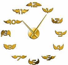 Wall clock Angel Wings With Number Modern DIY