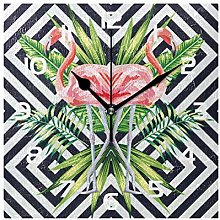 Wall Clock Animal Flamingo Pattern Decorative
