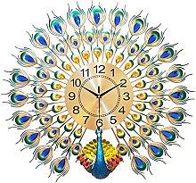 Wall Clock Art Deco,Peacock Wall Clocks for Living