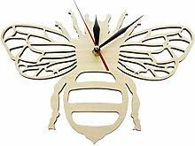 Wall Clock Art Wooden Honey Bee Wall Clock Perfect