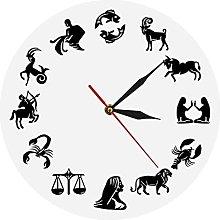 Wall Clock Astrology Art Wall Clock Star Signs