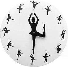 Wall Clock Ballerina Girl Wall Clock Dancing Lady