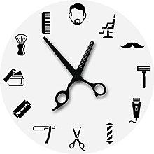 Wall Clock Barber Shop Sign Equipments Wall Clock
