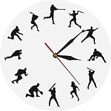 Wall Clock Baseball Time Wall Clock Baseball