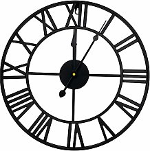 Wall Clock Battery Operated Non Ticking Decorative