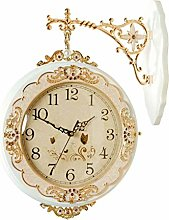 Wall Clock Battery Operated, Vintage Retro Silent