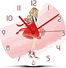 Wall Clock Beautiful Blonde Lady Modern Design