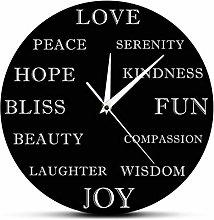 Wall Clock Beautiful Inspirational Words Modern