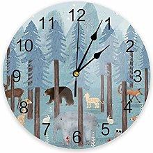 Wall clock Blue Forest PVC Wall Clock Living Room