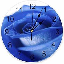 Wall clock Blue Rose Beautiful PVC Wall Clock Home
