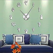 Wall clock Botanical Home Decor Cactus Large DIY