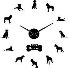 Wall Clock Boxer Dog Breed 3D Diy Wall Clock