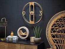 Wall Clock Brown MDF ø 50 cm Wooden Effect Rustic