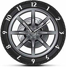 Wall Clock Car Service Repair Garage Owner Tire