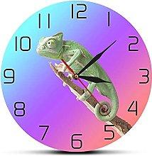 Wall Clock Chameleon Animal Wall Clock Wildlife