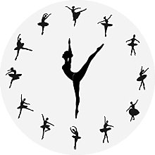 Wall Clock Charming Ballerina Wall Clock Baby Girl